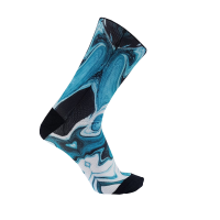 Calcetines de ciclismo Monolon Blue Liquid tecnicos media compresion