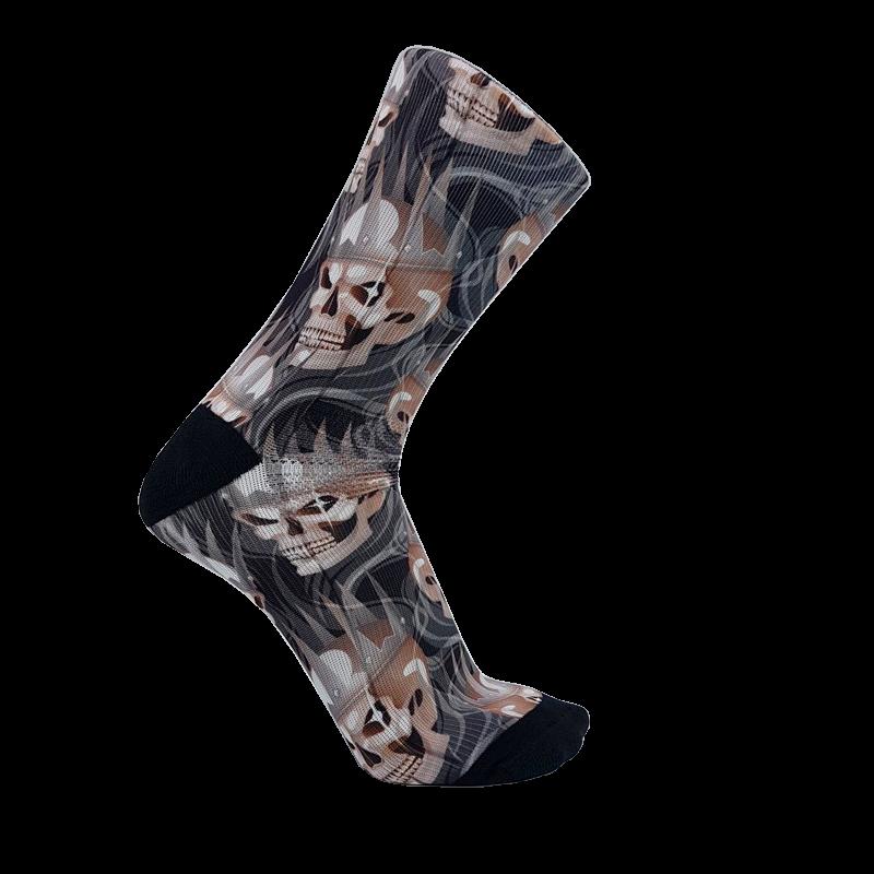 calcetines con dibujos de calaveras