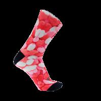 Calcetines-divertidos-para-ciclismo-running-diseño-originales-Gummy gominas chuches corazón