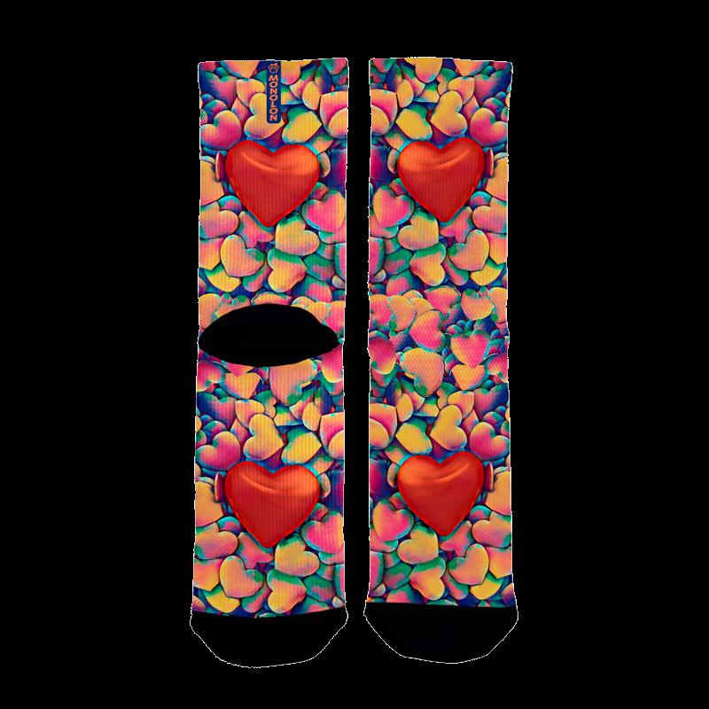 Calcetines para ciclismo corazones